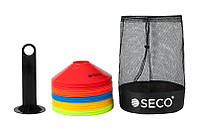 Набор тренировочных фишек SECO 5 цветов с подставкой и сумкой (50 штук)