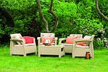 Corfu Quattro Set садовая мебель из искусственного ротанга, фото 8