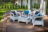 Corfu Quattro Set садовая мебель из искусственного ротанга, фото 10