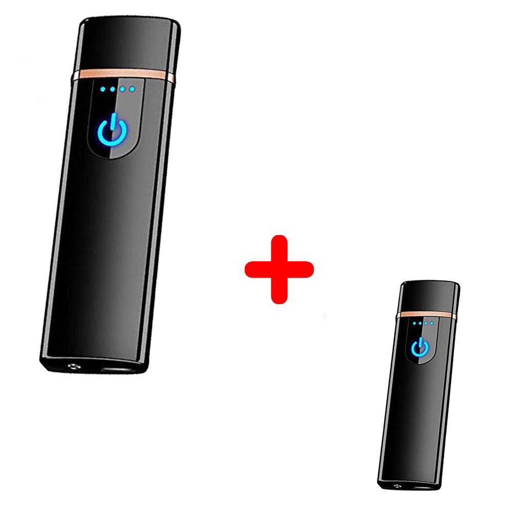 Электроимпульсная USB зажигалка SUNROZ TH-752 + Электроимпульсная USB зажигалка SUNROZ TH-752 Black (vol-353)