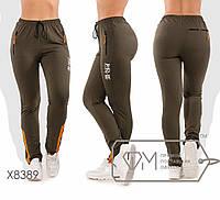 Спортивні штани жіночі великих розмірів ТЖ/-037 - Хакі, фото 1
