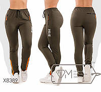 Спортивные штаны женские больших размеров ТЖ/-037 - Хаки
