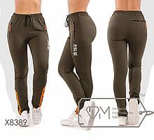 Спортивні штани жіночі великих розмірів ТЖ/-037 - Хакі