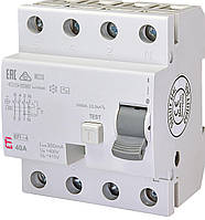 Дифференциальное реле ETI (УЗО) EFI-4 4P 40A 300mA 10kA AC (2064143)