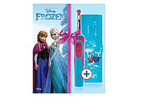 Детская зубная электрощетка Oral-B D12. 513 с дорожным футляром, Frozen (4210201258780), фото 1