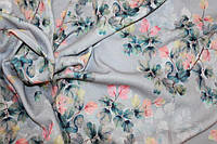 Ткань Ангора софт принт , осенняя нежность пог. м., №1342