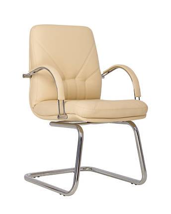 Кресло офисное Manager CF LB каркас chrome экокожа Eco-07 (Новый Стиль ТМ), фото 2