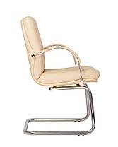 Кресло офисное Manager CF LB каркас chrome экокожа Eco-07 (Новый Стиль ТМ), фото 3
