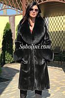 Шуба-пальто из норки black Nafa 48 размера, фото 1