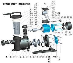 Насос для бассейна 1.1кВт Hmax 15.2м Qmax 350л/мин LEO (772225), фото 2