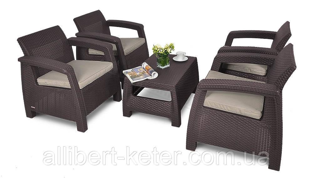 Corfu Quattro Set садовая мебель из искусственного ротанга