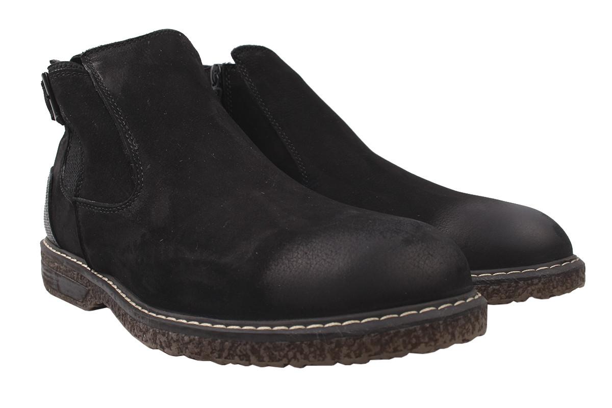 Ботинки мужские Copalo зимние нубук, цвет черный, размер 40-44, Турция