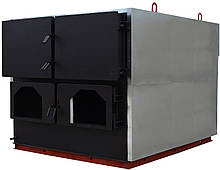 Котел твердотопливный, жаротрубный 1000кВт Для установки 2х пеллетных горелок