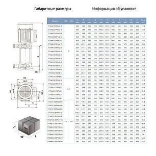 Насос центробежный многоступенчатый вертикальный 380В 3.0кВт Hmax 103м Qmax 175л/мин LEO 3.0 (7754753), фото 2