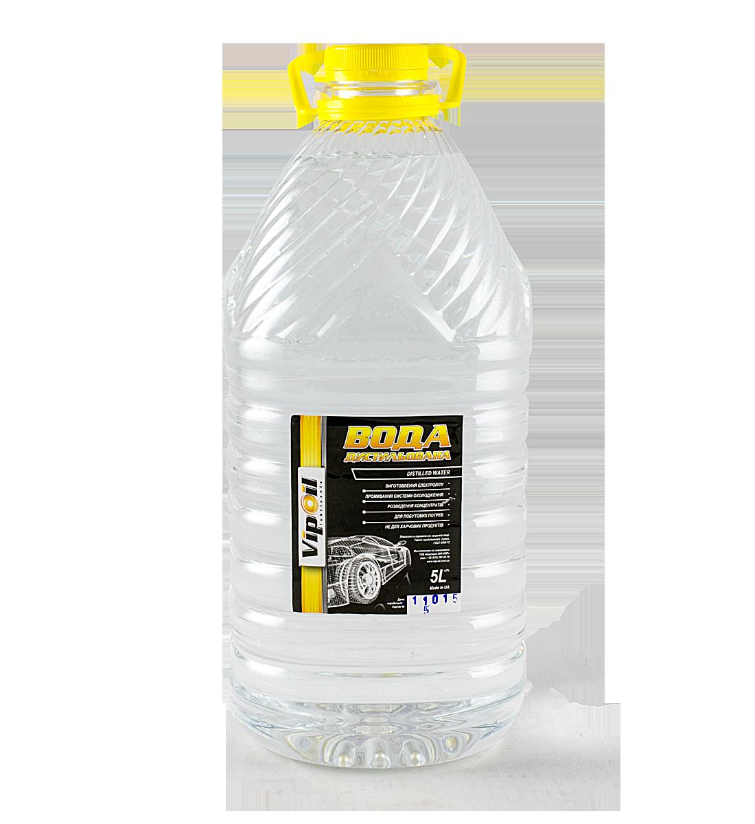 Дистиллированная вода VipOil 5 л.