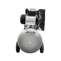 Компрессор двухцилиндровый ременной 2.5кВт 396л/мин 10бар 100л (2 крана) Sigma (7044151), фото 3