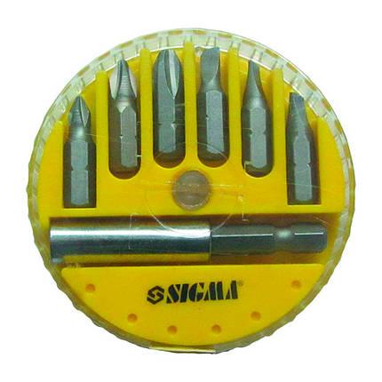Набор бит + адаптер 7шт S2 (пласт кейс) Sigma (4013101), фото 2