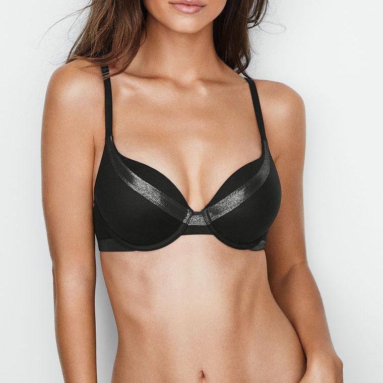 Бюстгальтер Пуш-Ап Victoria's Secret Perfect Shape Full Coverage 70Е, Черный