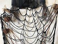 Декоративная Паутина черная на 5 кругов