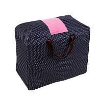 Сумка для одеял оксфорд Genner размер S темно синяя в горошек 01098/011, фото 1