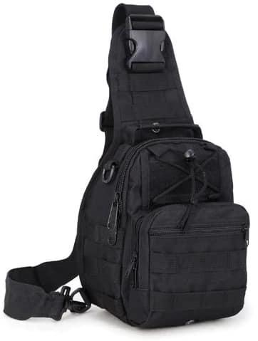 Тактическая сумка однолямка реплика EDC черная