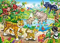 Детские пазлы Животные в джунглях на 120 элементов Сastorland