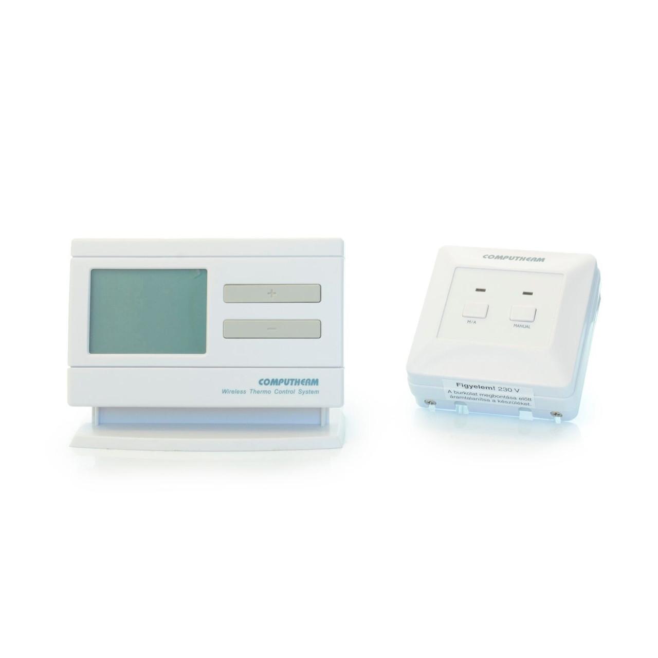 Беспроводной недельный терморегулятор для котла (программатор) COMPUTHERM Q7 RF компьютерм