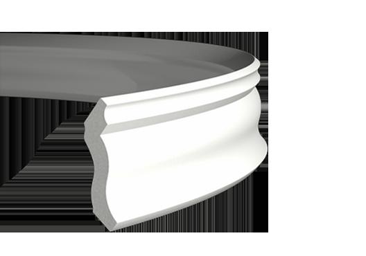 Карниз  потолочный  1.50.105 ГИБКИЙ, лепной декор из полиуретана.