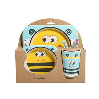 Бамбуковая посуда Набор детский из 5 предметов Vibranium Пчелка