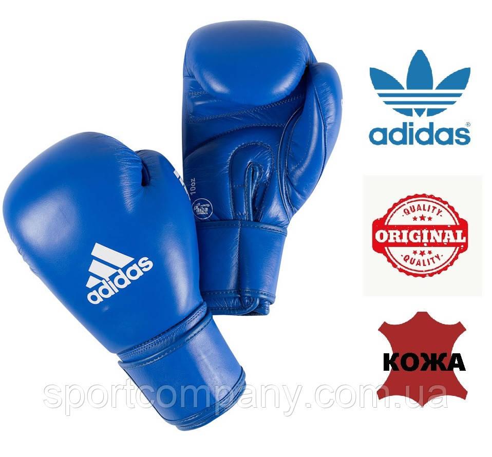 Боксерские перчатки Adidas с лицензией AIBA (AIBAG1, синие)