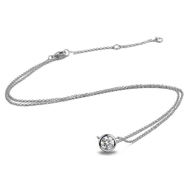 Женская подвеска - Алмазный блеск (Серебристая с белым)