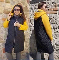 Женская стеганное пальто с капюшоном большого размера.Размеры:48-64.+Цвета, фото 1