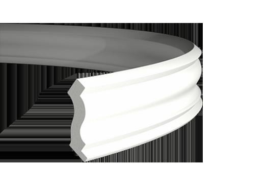 Карниз стельовий 1.50.103 ГНУЧКИЙ, ліпний декор з поліуретану.