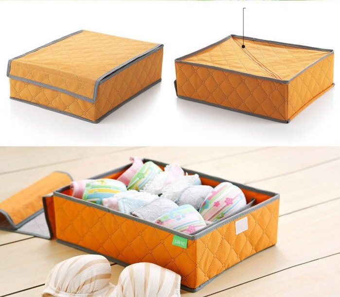Органайзер для нижнего белья на 7 ячеек Genner 35х27х11 см Оранжевый (01091/03)