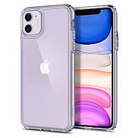 Чехол Spigen для iPhone 11 Ultra Hybrid, Crystal Clear (076CS27185)