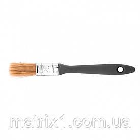 """Кисть плоская """"Евро"""" 3/4"""" (20 мм), натуральная щетина, пластмассовая ручка МТХ"""