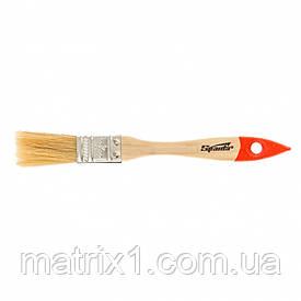 """Кисть плоская Slimline 3/4"""" (20 мм), натуральная щетина, деревянная ручка SPARTA"""