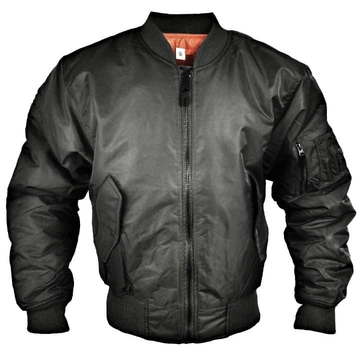 Куртки летные реплика MA-1 Flight Jacket черные от Miltec
