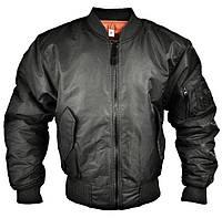 Куртки летные реплика MA-1 Flight Jacket черные от Miltec, фото 1