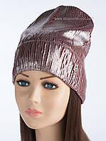 Модная шапка-колпак с логотипом Burberry бордовая с серебряным напылением