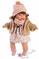 Кукла Llorens 42152 плачущая Пиппа 42 см в меховой кофточке