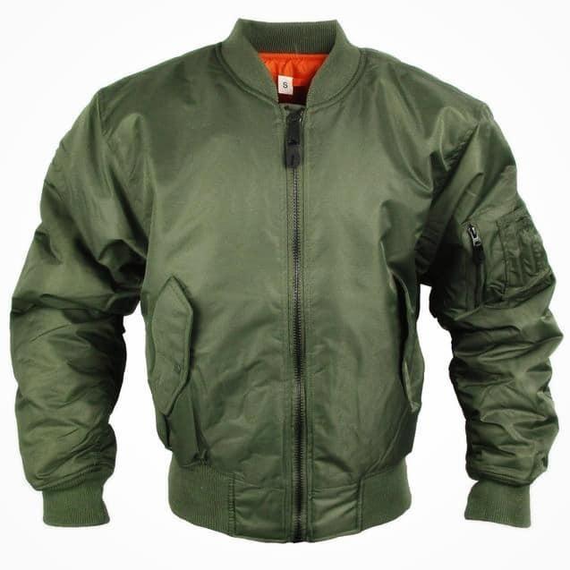 Куртки летные реплика MA-1 Flight Jacket олива от Miltec
