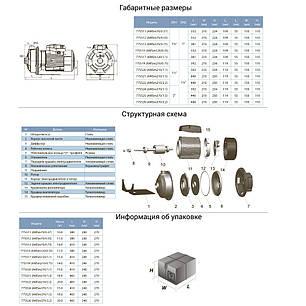 Насос центробежный 0.75кВт Hmax 16.8м Qmax 300л/мин (нерж) LEO 3.0 (775519), фото 2
