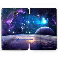 Чехол книжка, обложка для Samsung Galaxy Tab (Космическое пространство) планшеты A9.7 10.1 10.5 E8.0 S2 S3 S4 S5e S6