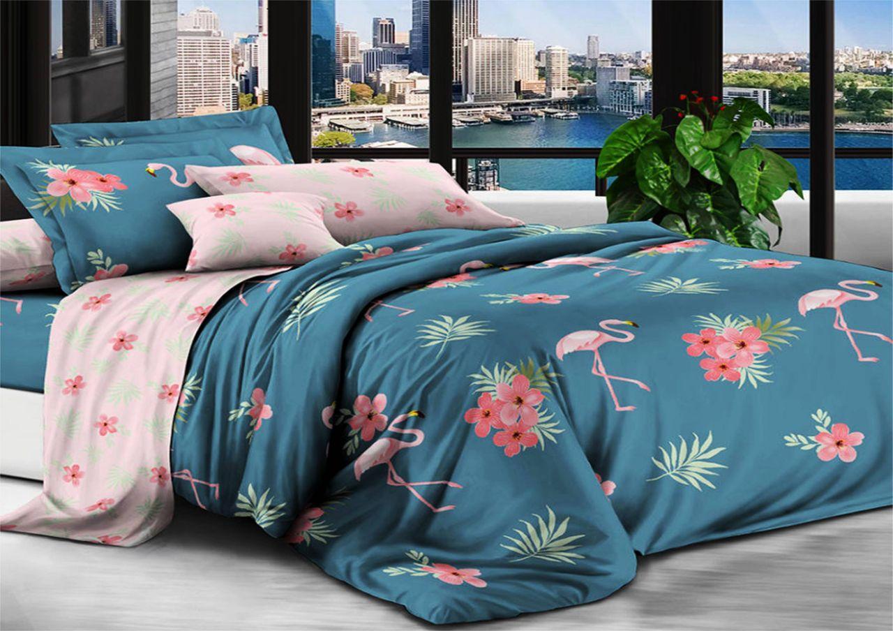 Комплект постельного белья  Фламинго Розовый