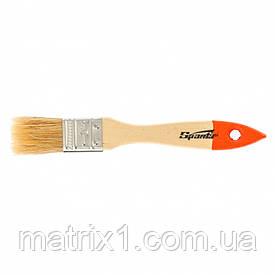 """Кисть плоская Slimline 1 """"(25 мм), натуральная щетина, деревянная ручка SPARTA"""