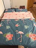 Комплект постельного белья  Фламинго Розовый, фото 2