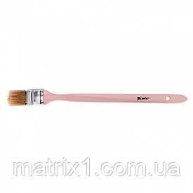 """Кисть радиаторная 1,5"""" (38 мм), натуральная щетина, деревянная ручка MATRIX"""