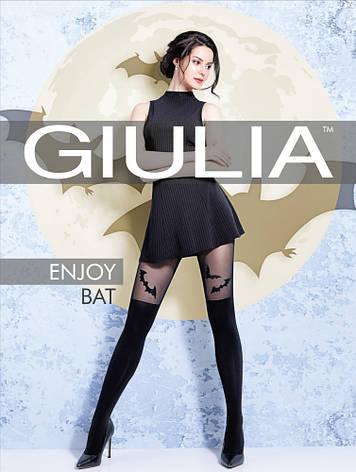 Фантазийные колготки с имитацией чулков и рисунком летучая мышь GIULIA ENJOY BAT 60 model 2, фото 2