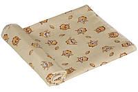 Пеленка детская ситец Руно совушки бежевые 95х110 см
